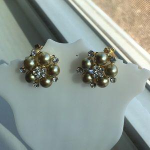 Vintage gold filled/CZ earrings
